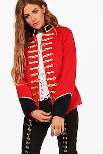 Boohoo Red Military Jacket