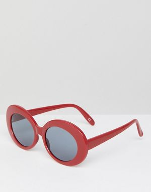 Asos oval Shades in red