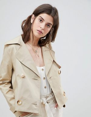 RI Cropped Trench Jacket