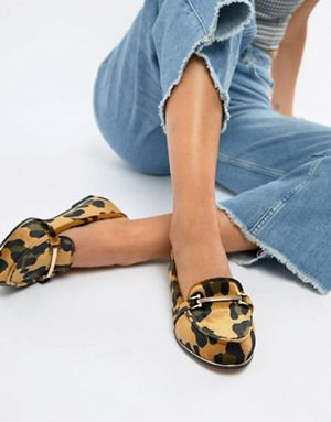 ASOS Design Leopard Print Loafers