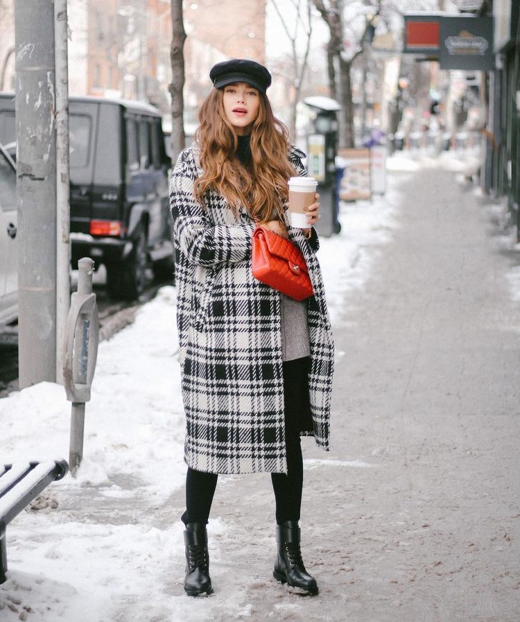 Checked coat Winter Style