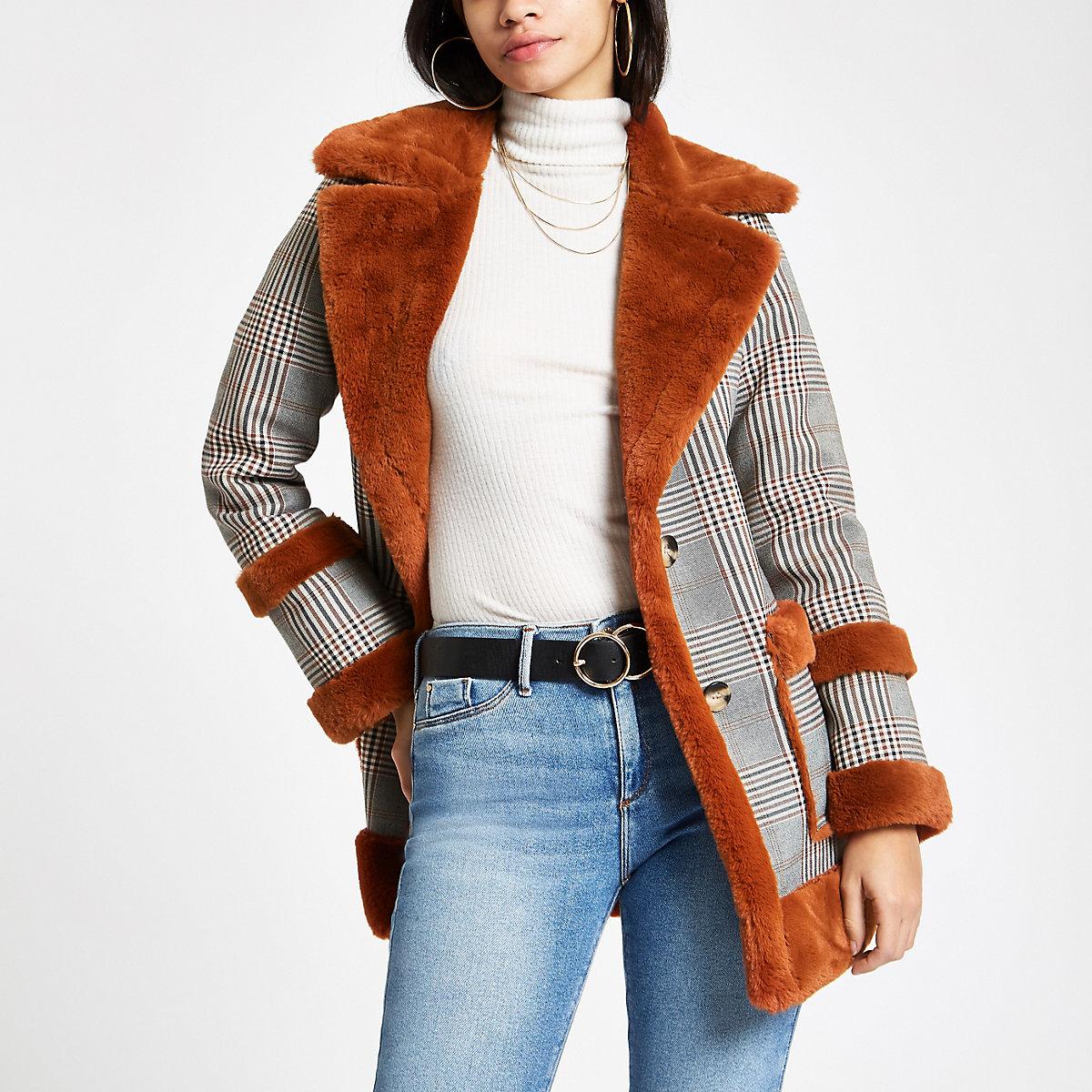 RI Checked Avaitor jacket