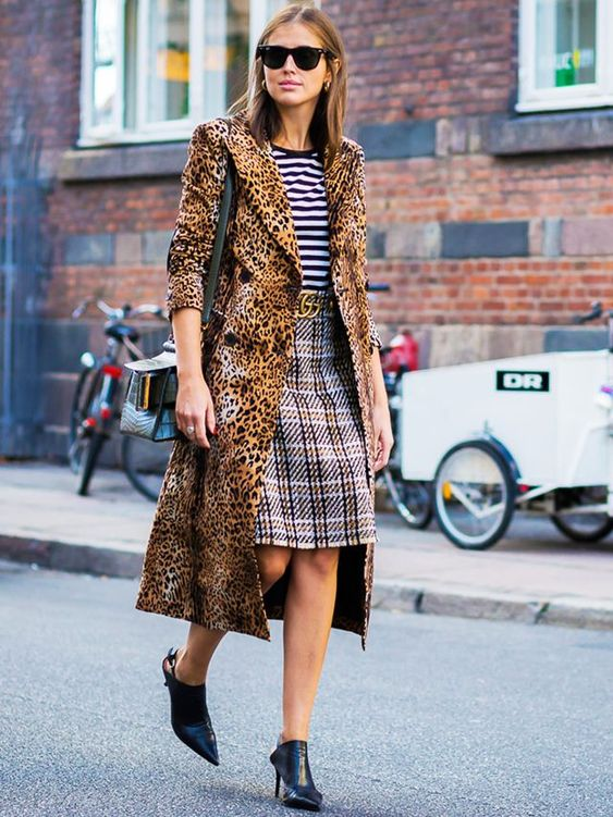 Mixed Leopard Print Street Style