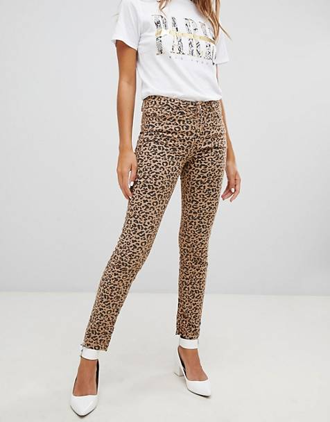 New Look Hallie Leopard Print Jeans