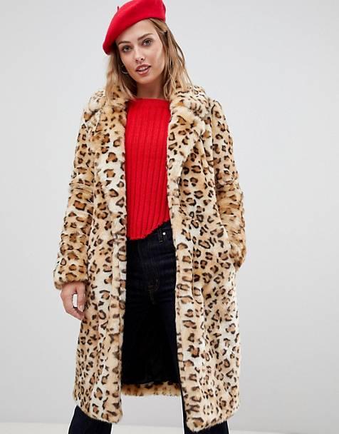 Urbancode Leopard LongLine Faux fur Coat